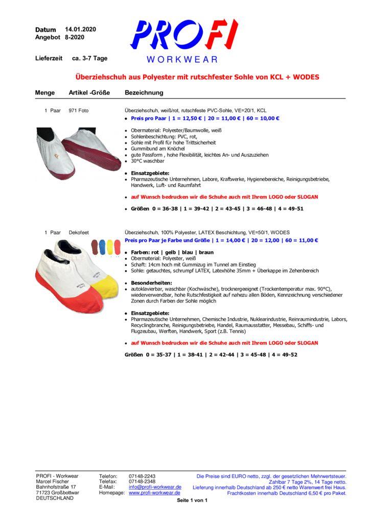 thumbnail of Überziehschuhe aus Polyester mit rutschfester Laufsohle = KCL + WODES = 01-2020