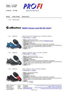 thumbnail of Berufschuhe OHNE Zehenschutz EN ISO 20347 = ALBATROS = 10-2020